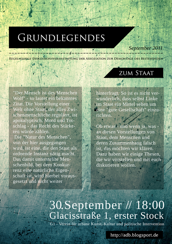 Grundlegendes September Plakat
