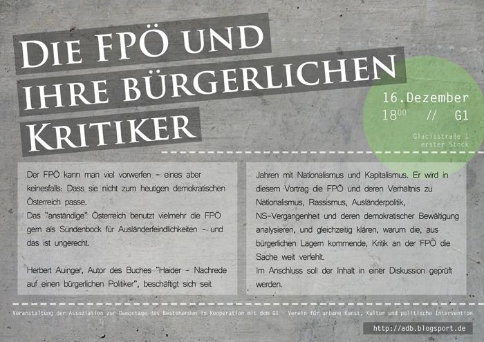 Die FPÖ und ihre bürgerlichen Kritiker - Plakat web